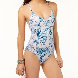 BAR III ONE PIECE SWIMSUIT SIZE LARGE NWT Lagoon